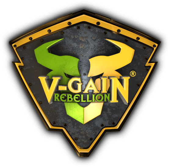Logo V-Gain Rebellion die Fitness Rebellion